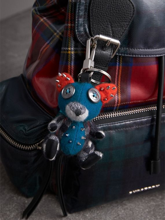 Dave The Fox Cashmere Charm in Navy | Burberry Hong Kong - cell image 2