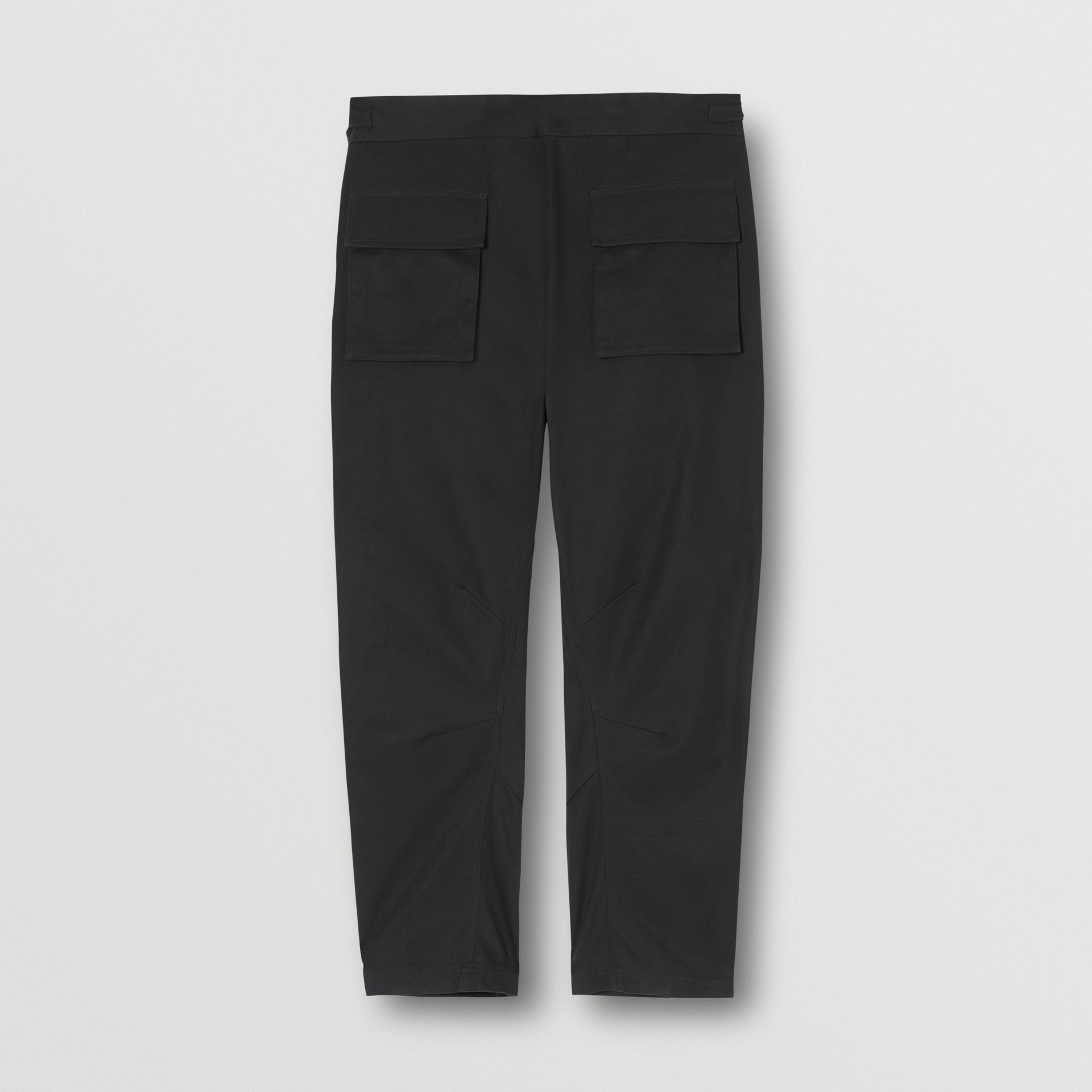 Cotton Cargo Trousers in Black - Men | Burberry - gallery image 5