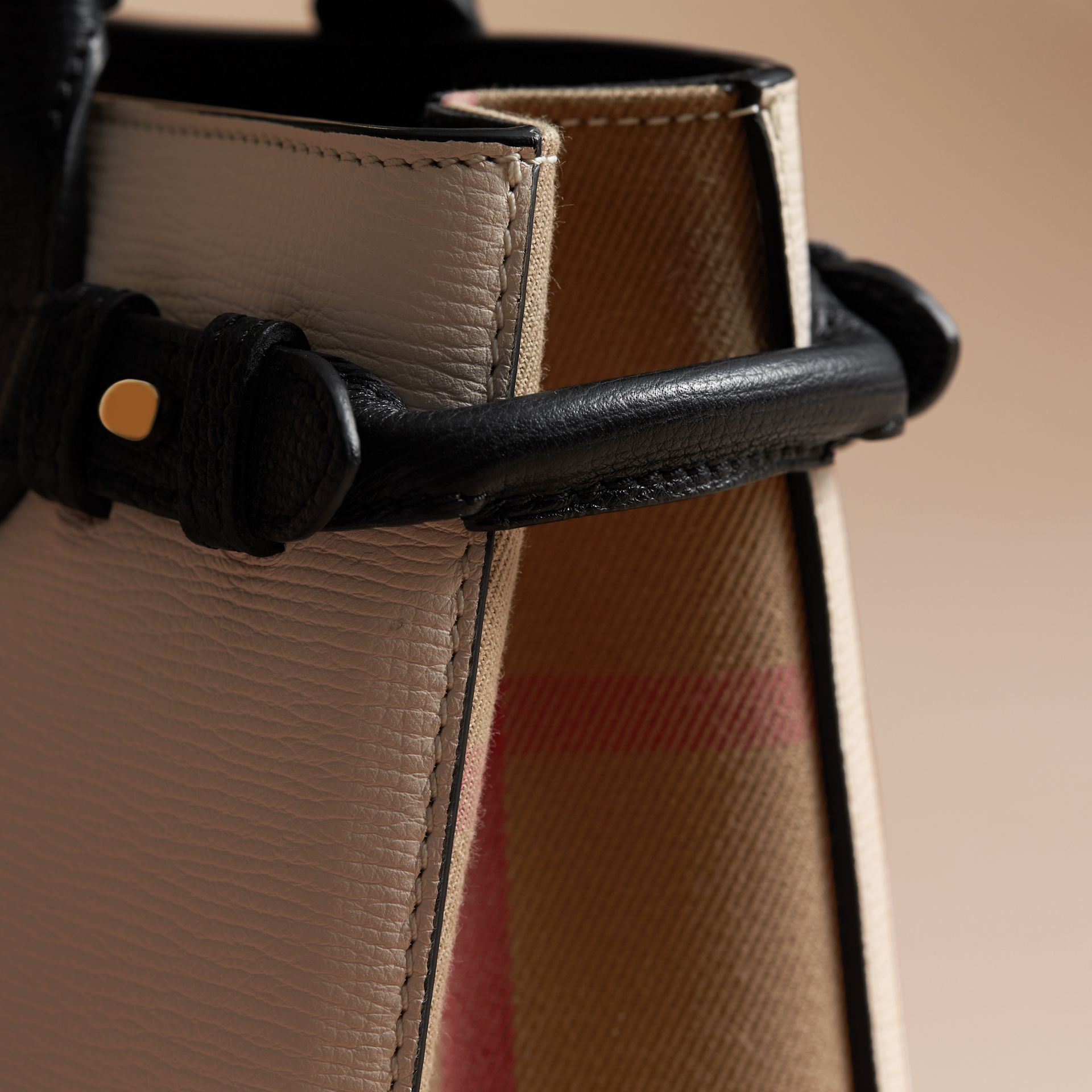 The Small Banner in Leather and House Check - gallery image 7