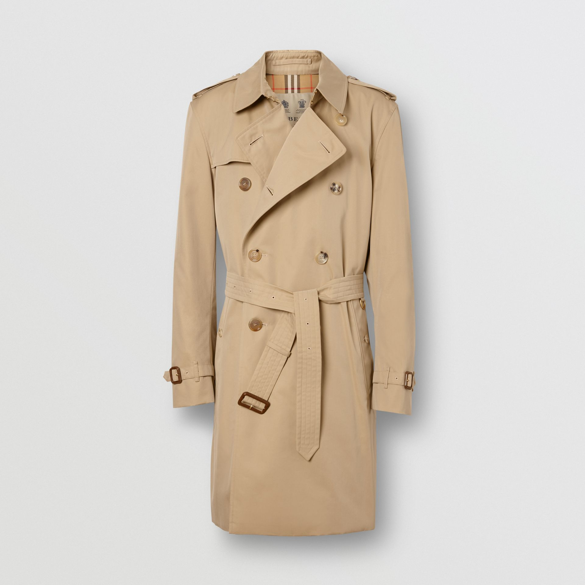 The Mid-length Kensington Heritage Trench Coat in Honey - Men | Burberry Singapore - gallery image 3