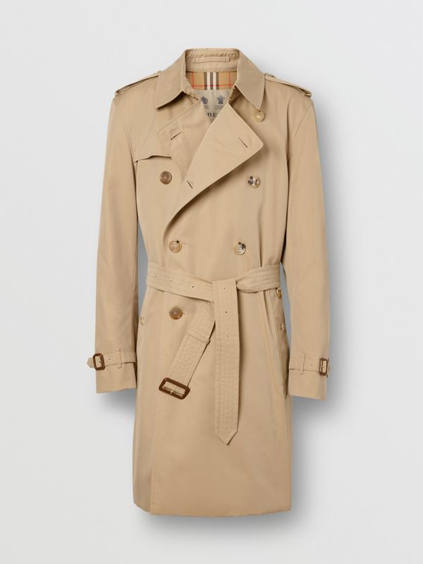 The Mid-length Kensington Heritage Trench Coat in Honey - Men | Burberry Singapore - cell image 3
