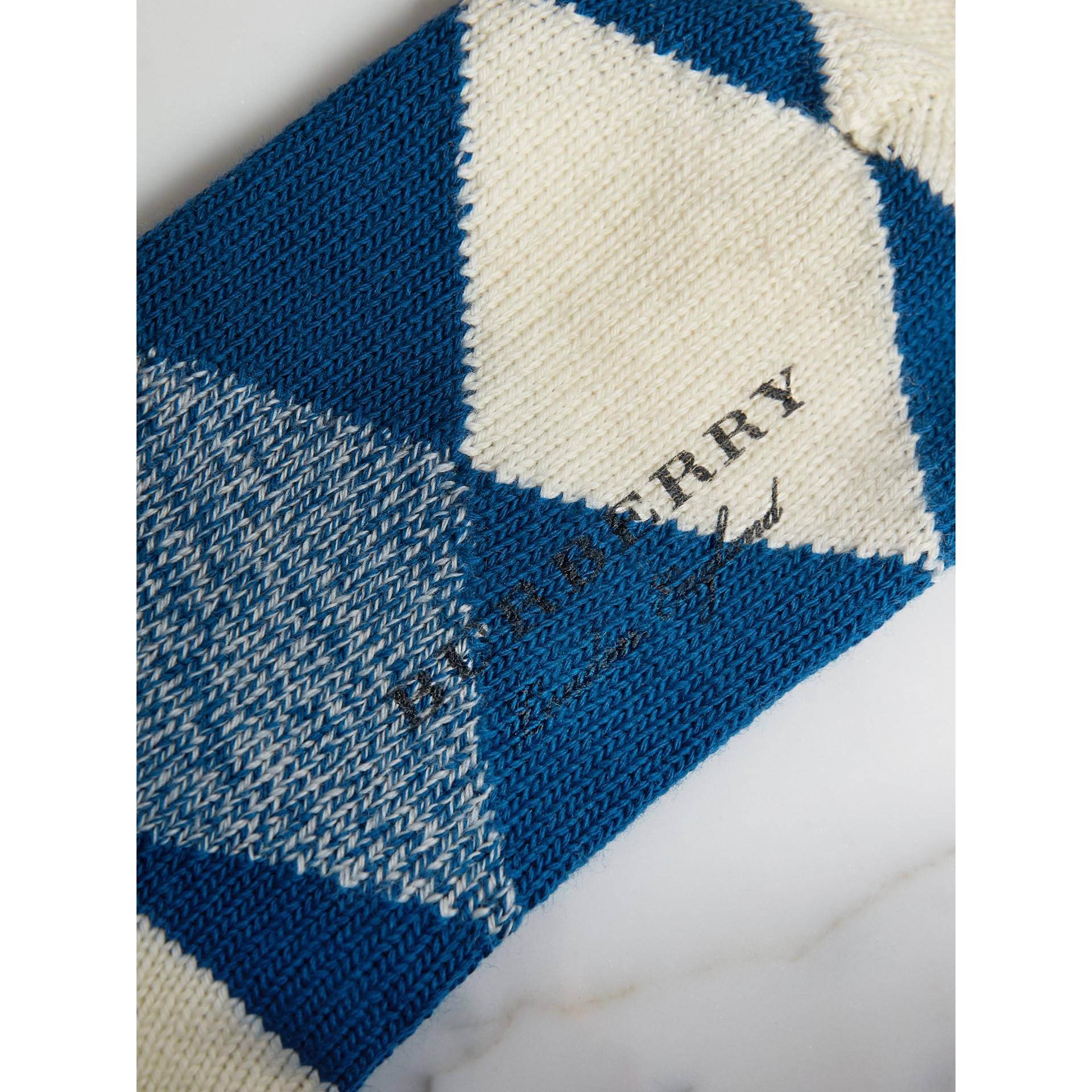 Wollstrümpfe mit Argyle-Muster (Kobaltblau) | Burberry - Galerie-Bild 2