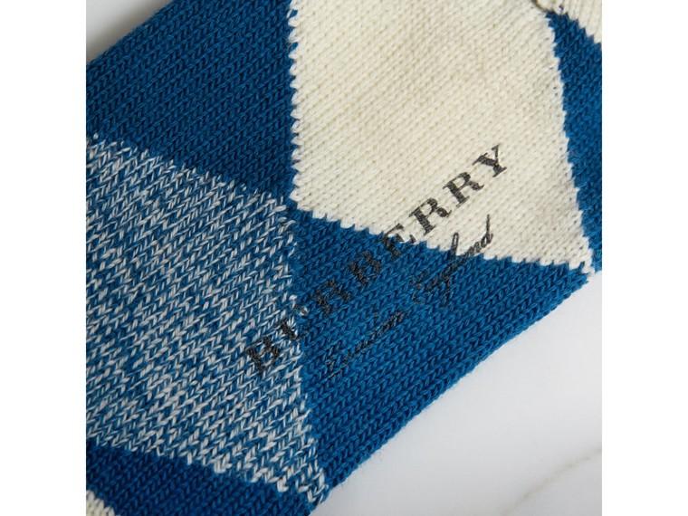 Wollstrümpfe mit Argyle-Muster (Kobaltblau) | Burberry - cell image 1