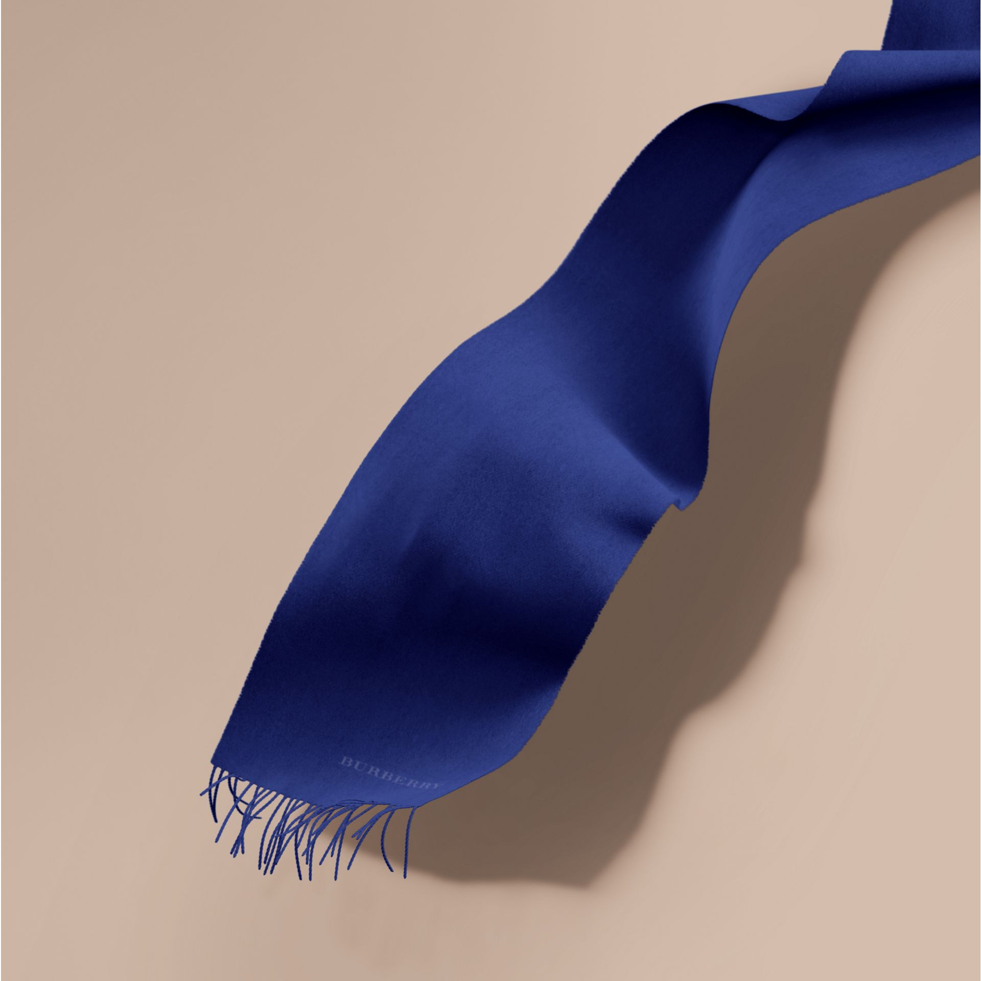 The Classic Cashmere Scarf in Bright Sapphire | Burberry - gallery image 1