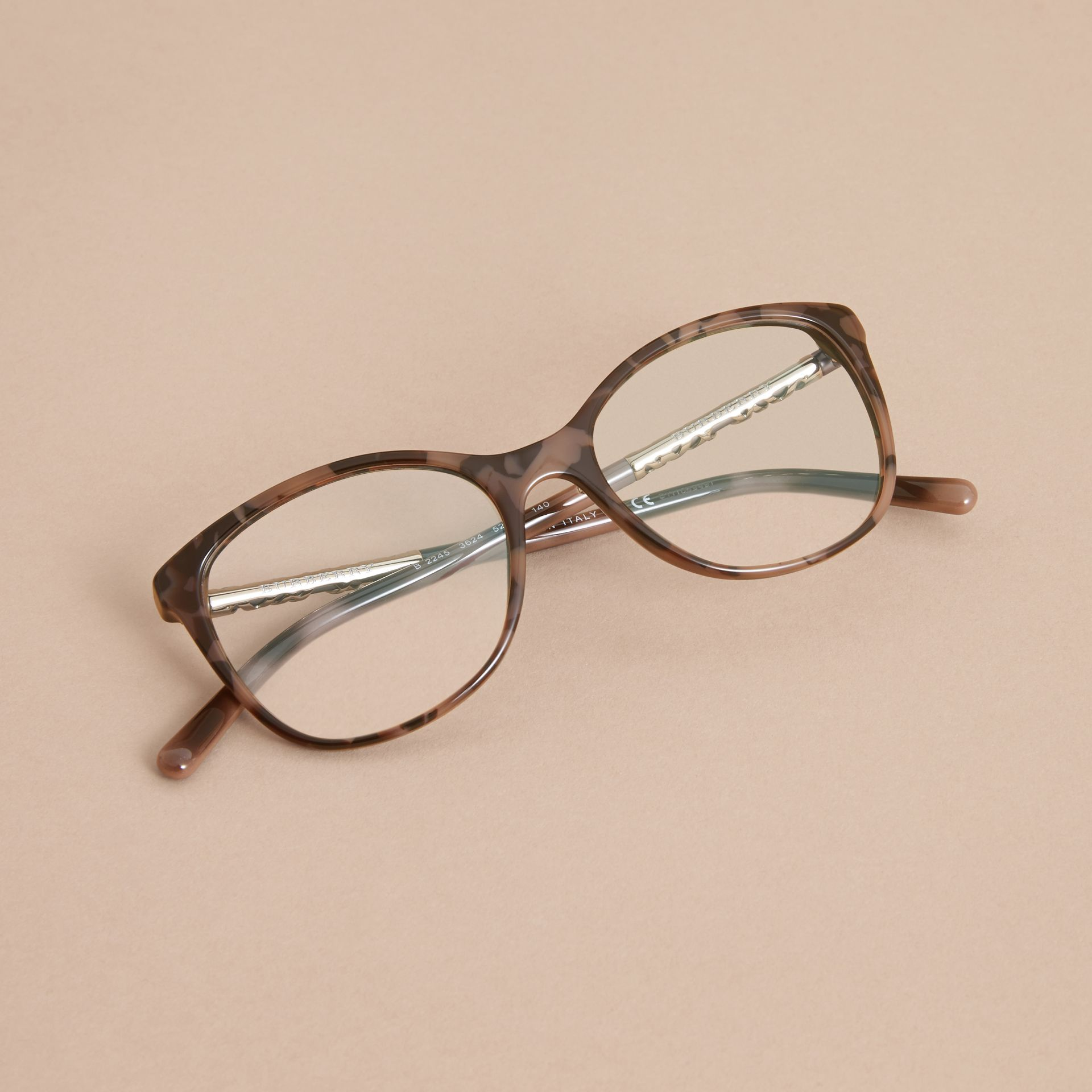 Check Detail Round Optical Frames - gallery image 3