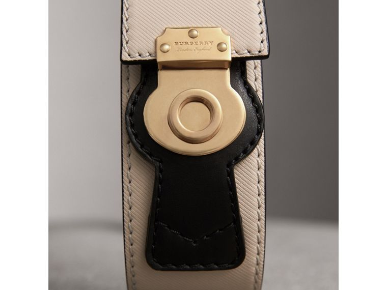 Two-tone Trench Leather Belt in Limestone/ Black - Women | Burberry - cell image 1