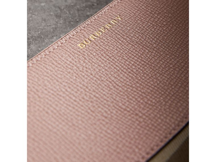 House Check and Leather Ziparound Wallet in Pale Orchid - Women | Burberry United Kingdom - cell image 1