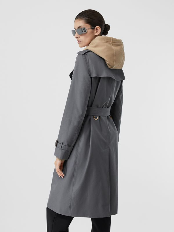 The Long Kensington Heritage Trench Coat in Mid Grey - Women | Burberry Singapore - cell image 2