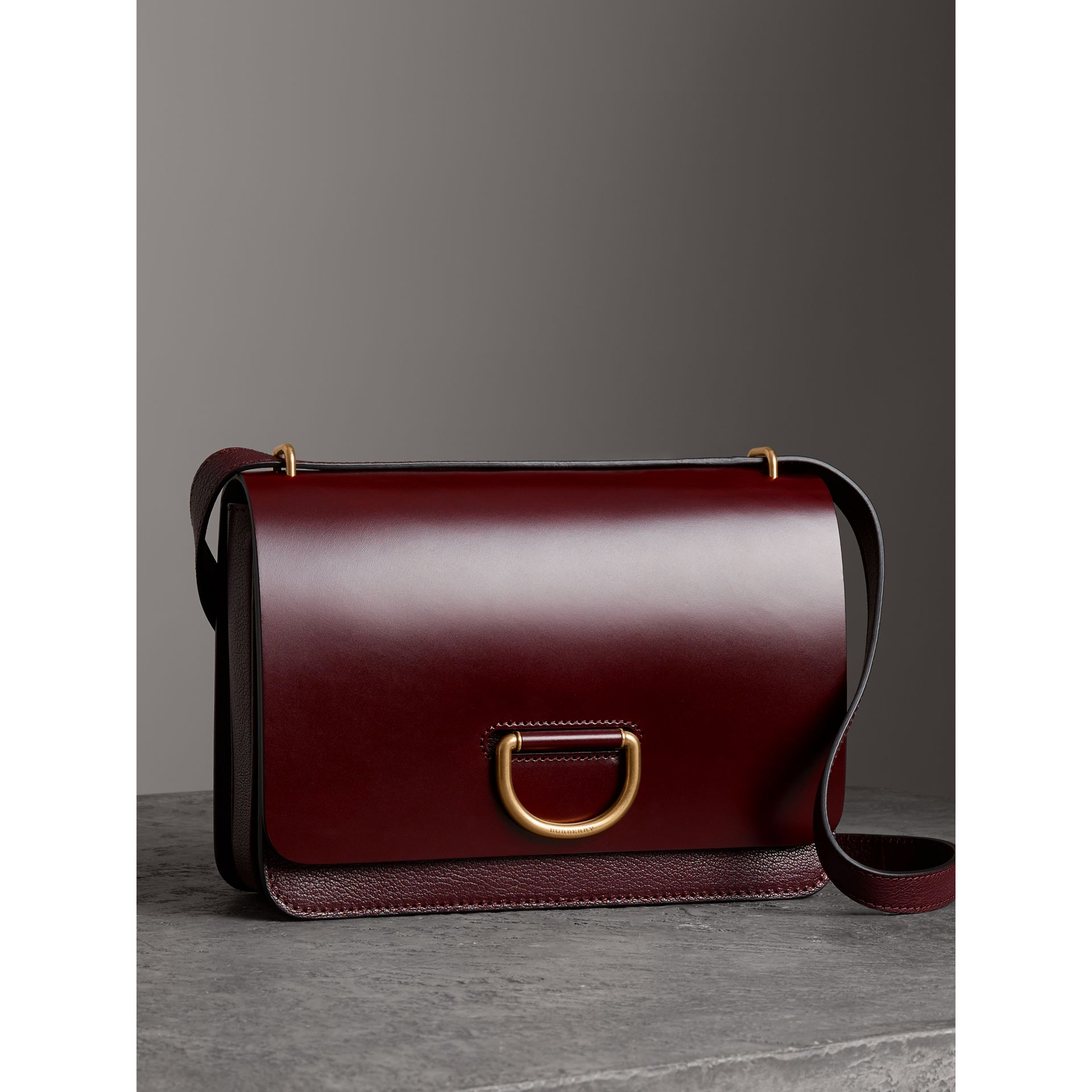The Medium Leather D-ring Bag in Deep Claret - Women | Burberry - gallery image 5