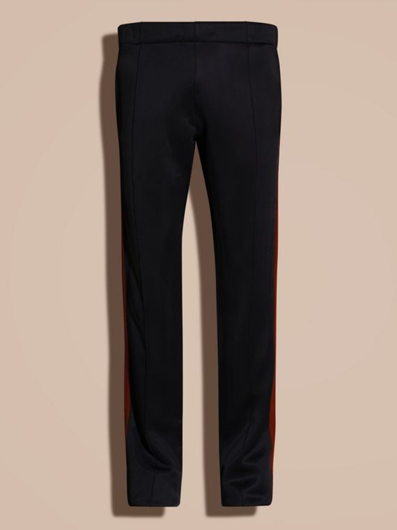 Navy Contrast Stripe Technical Track Pants - cell image 3