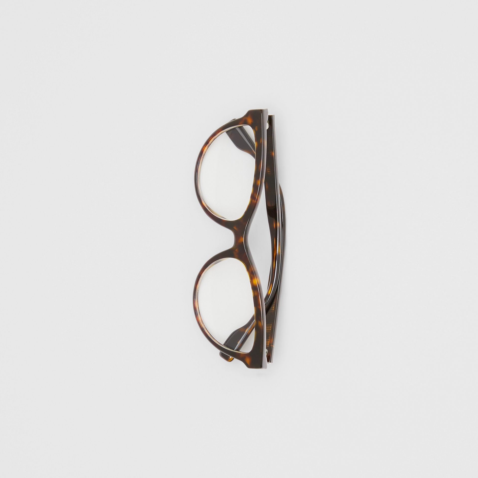 Monogram Motif Cat-eye Optical Frames in Tortoiseshell | Burberry United States - gallery image 2
