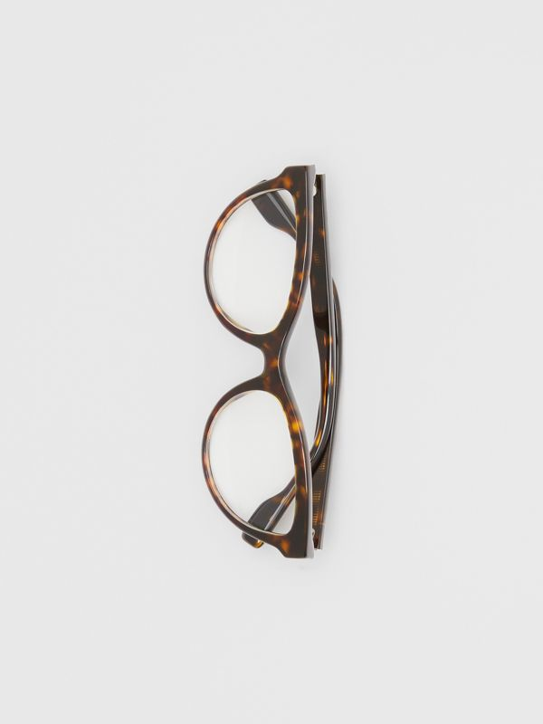 Monogram Motif Cat-eye Optical Frames in Tortoiseshell | Burberry United States - cell image 2