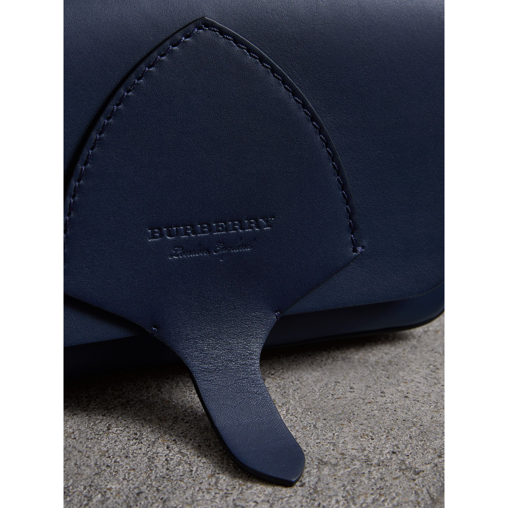 Equestrian Shield Leather Wallet with Detachable Strap in Mid Indigo - Women | Burberry - gallery image 1