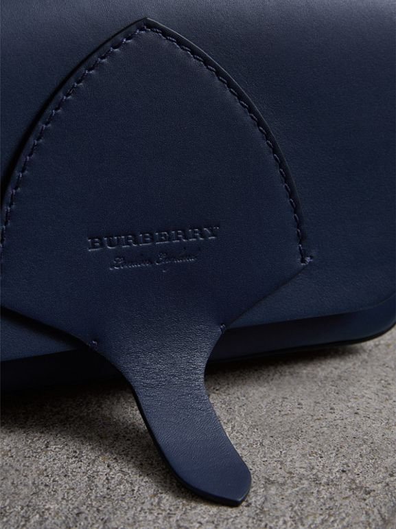 Equestrian Shield Leather Wallet with Detachable Strap in Mid Indigo - Women | Burberry - cell image 1
