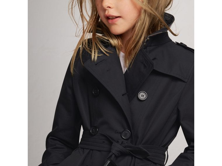 The Sandringham Trench Coat in Navy - Girl | Burberry Canada - cell image 1