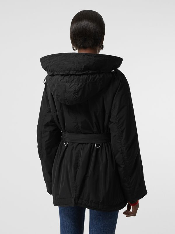 Shape-memory Taffeta Hooded Parka in Black - Women | Burberry United States - cell image 2