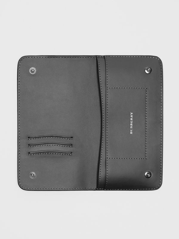 Leather Phone Wallet in Black - Women | Burberry United States - cell image 2