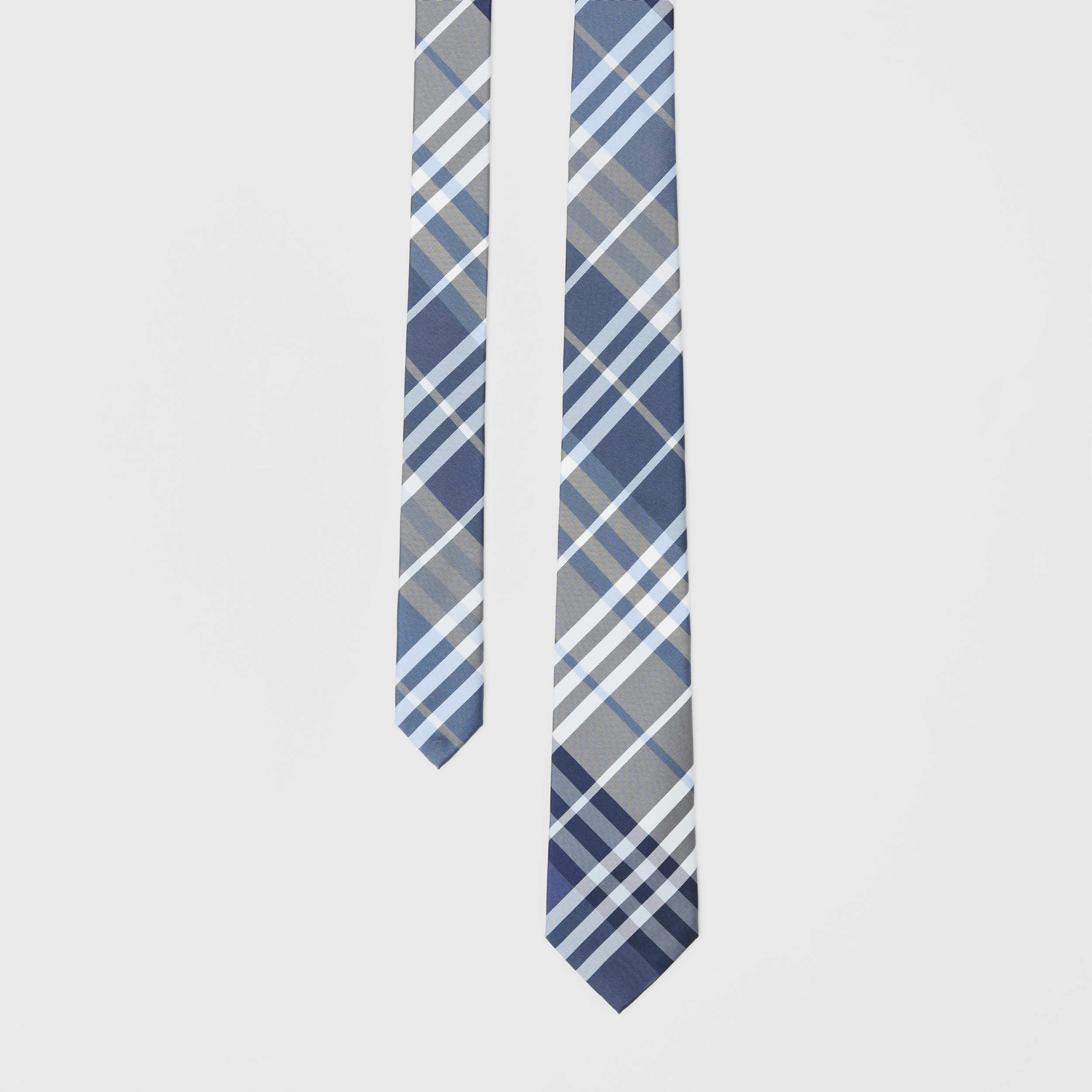 Classic Cut Check Silk Tie in Pale Blue - Men | Burberry - 1
