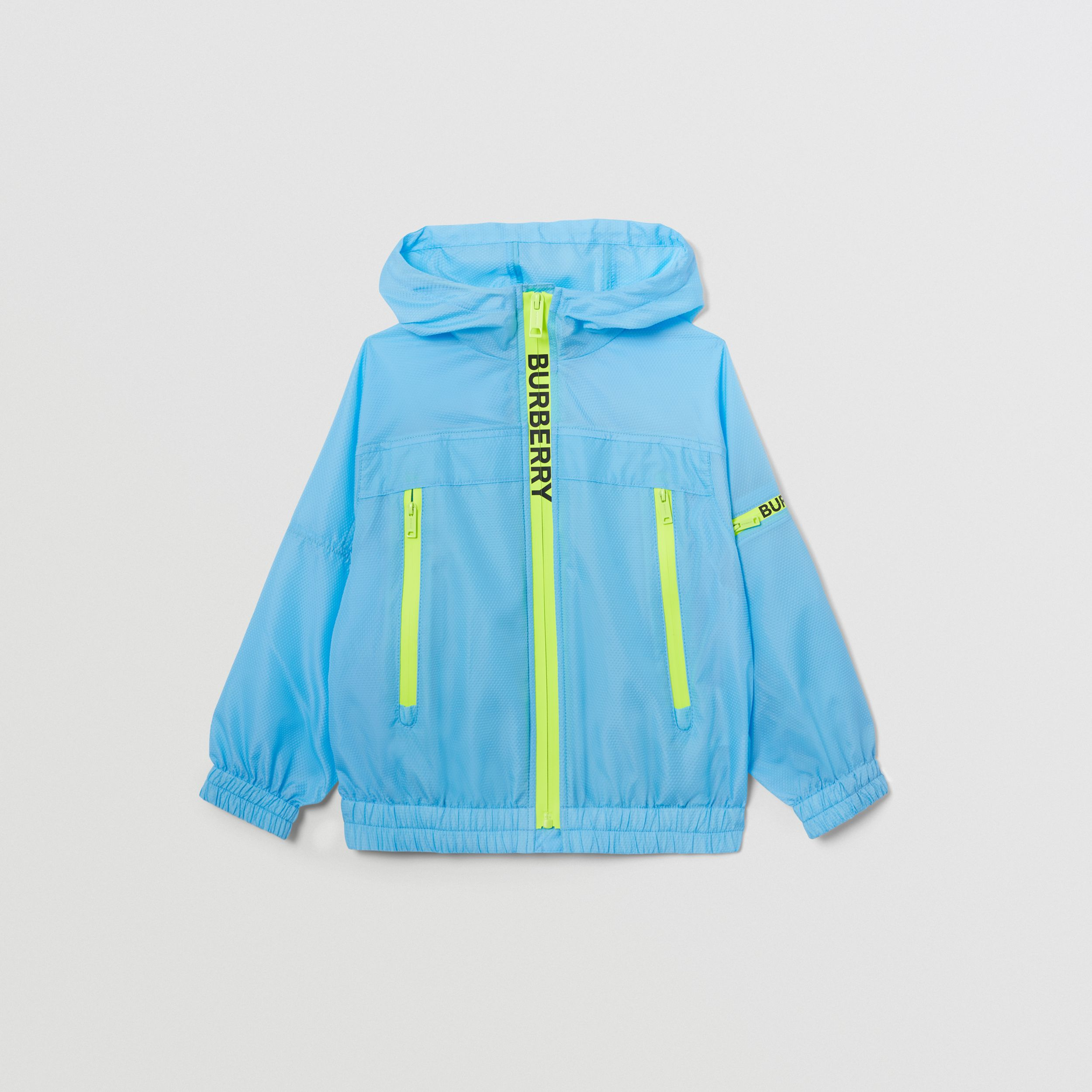 Logo Print Lightweight Hooded Jacket in Turquoise | Burberry United States - 1