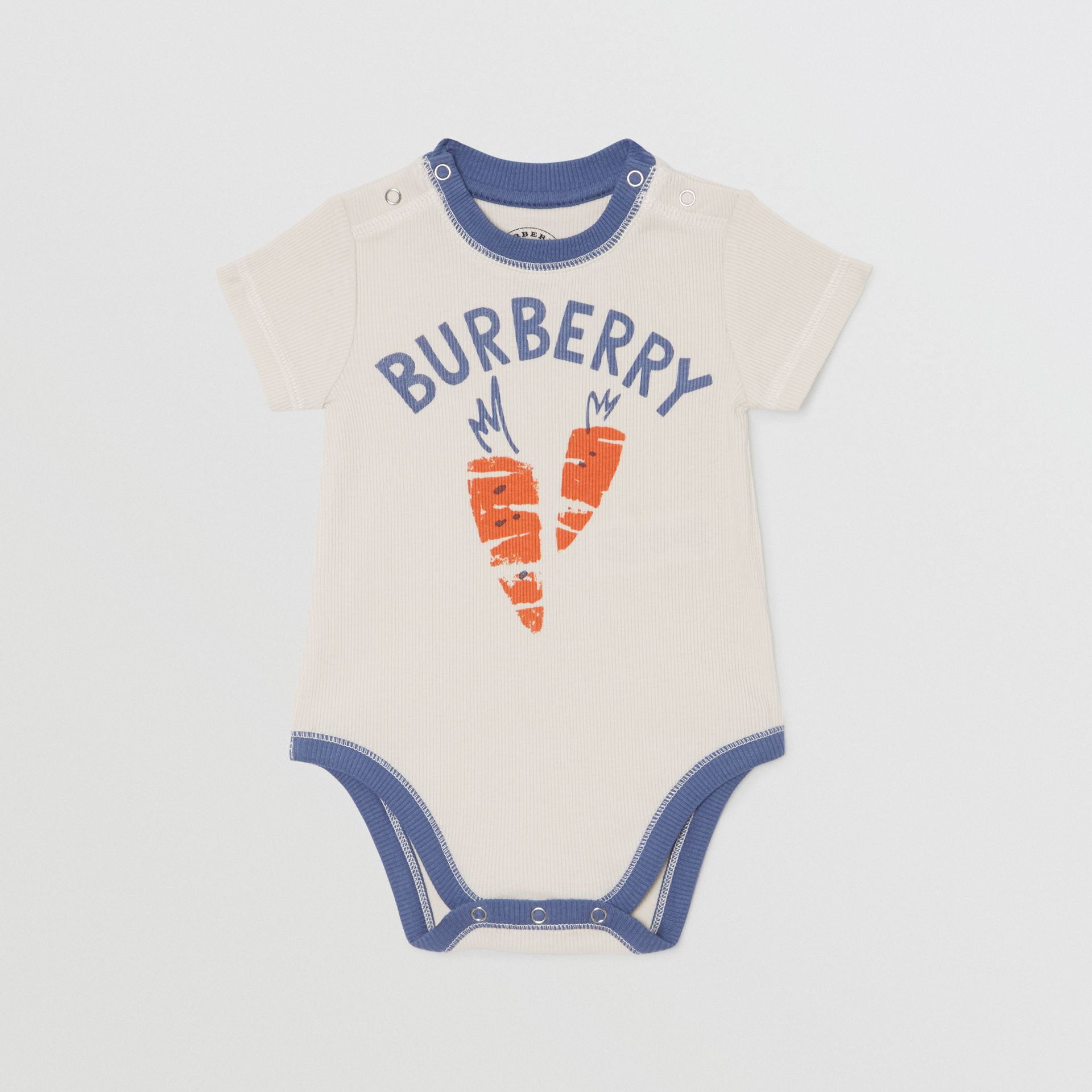 Carrot and Tree Print Three-piece Baby Gift Set in Stone - Children | Burberry - gallery image 2