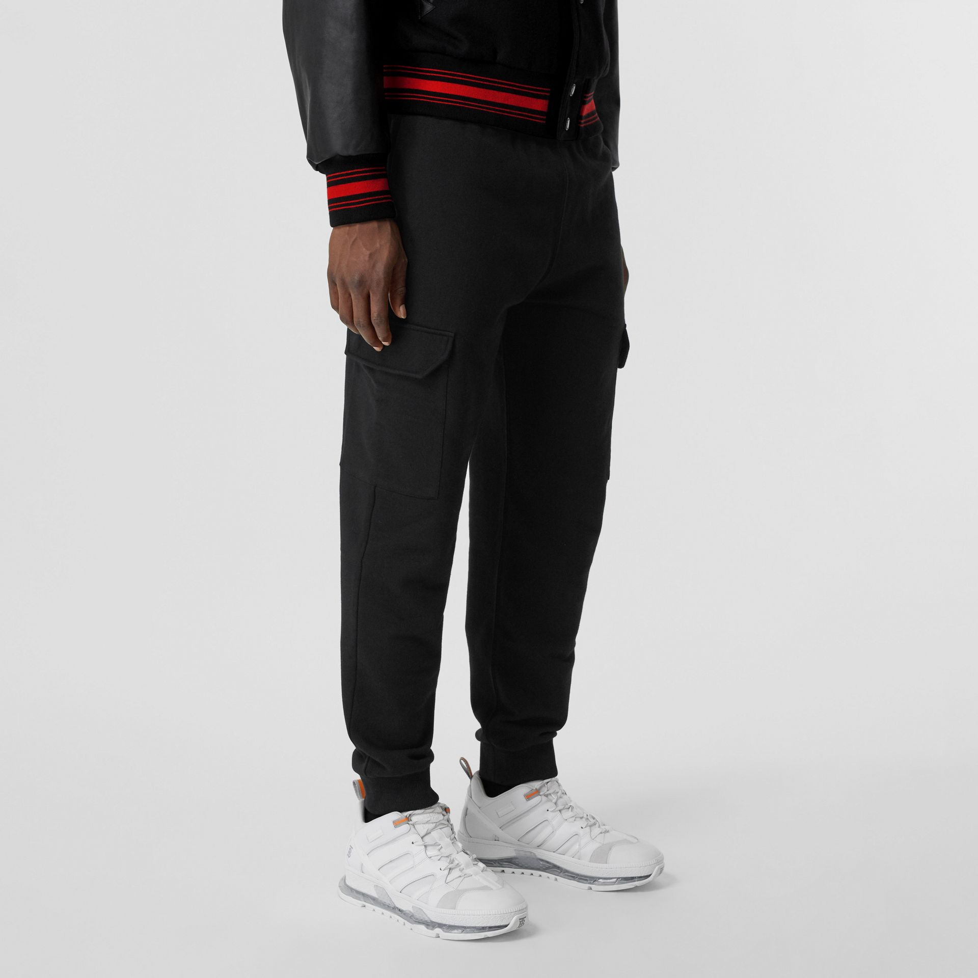 Logo Appliqué Cotton Trackpants in Black - Men   Burberry United States - gallery image 5