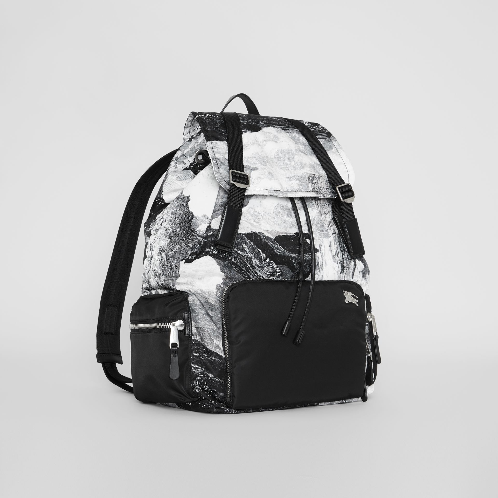 The Extra Large Rucksack in Dreamscape Print in Black/white - Men | Burberry - gallery image 6