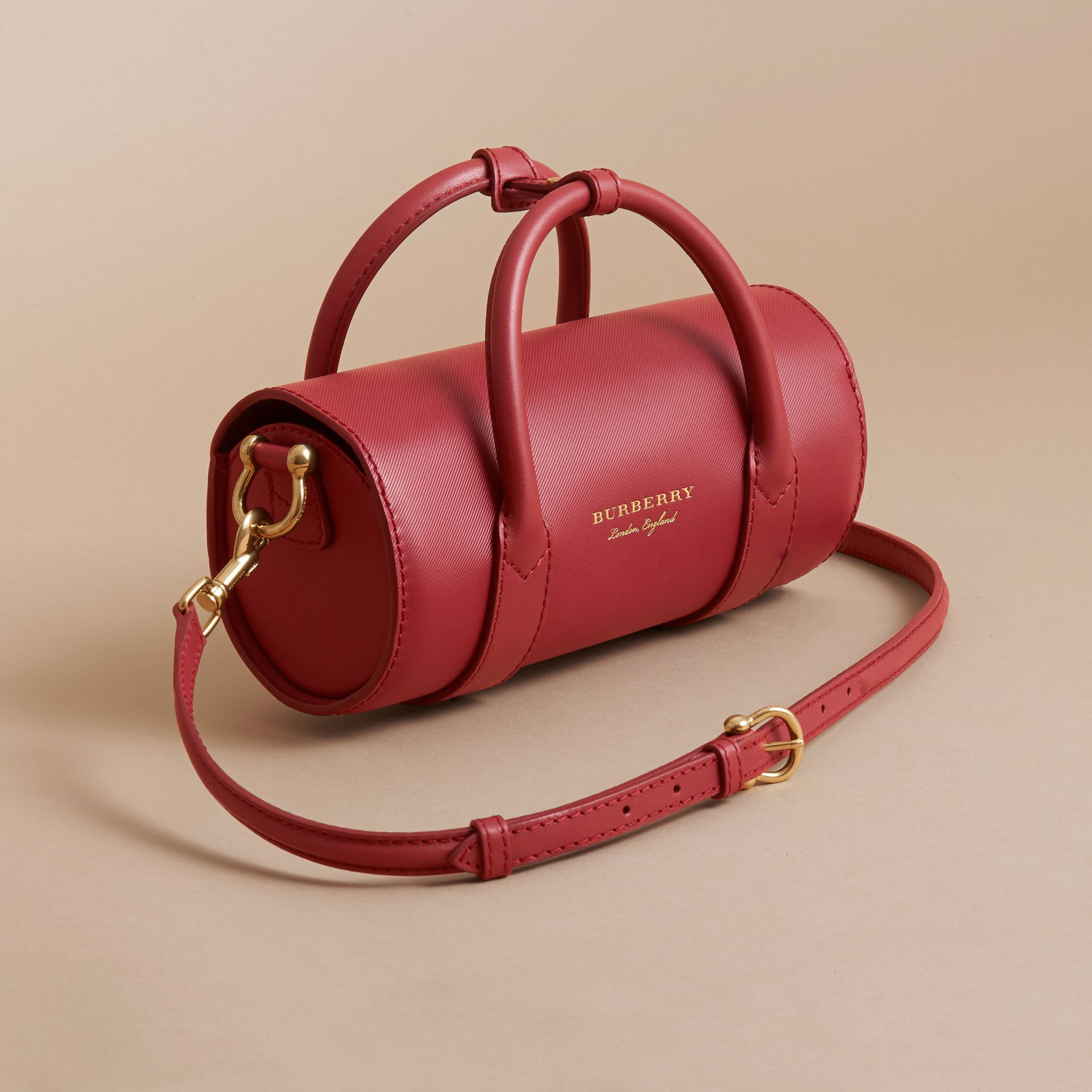 The Small DK88 Barrel Bag in Antique Red - Women | Burberry - gallery image 2