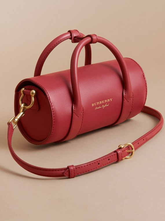 The Small DK88 Barrel Bag in Antique Red - Women | Burberry - cell image 2