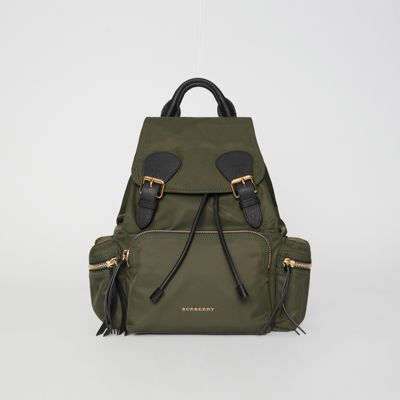 Burberry - Sac The Rucksack moyen en nylon technique et cuir - 1