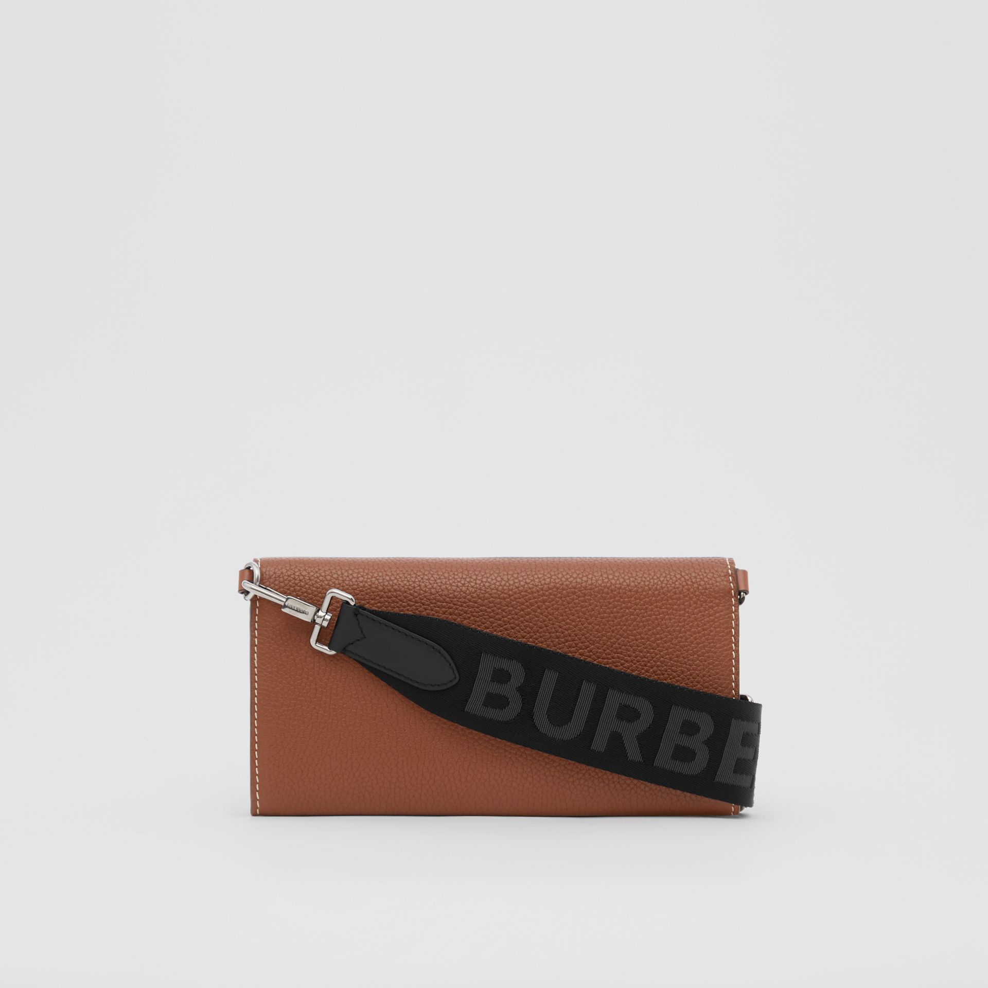 Grainy Leather Wallet with Detachable Strap in Tan | Burberry - gallery image 9