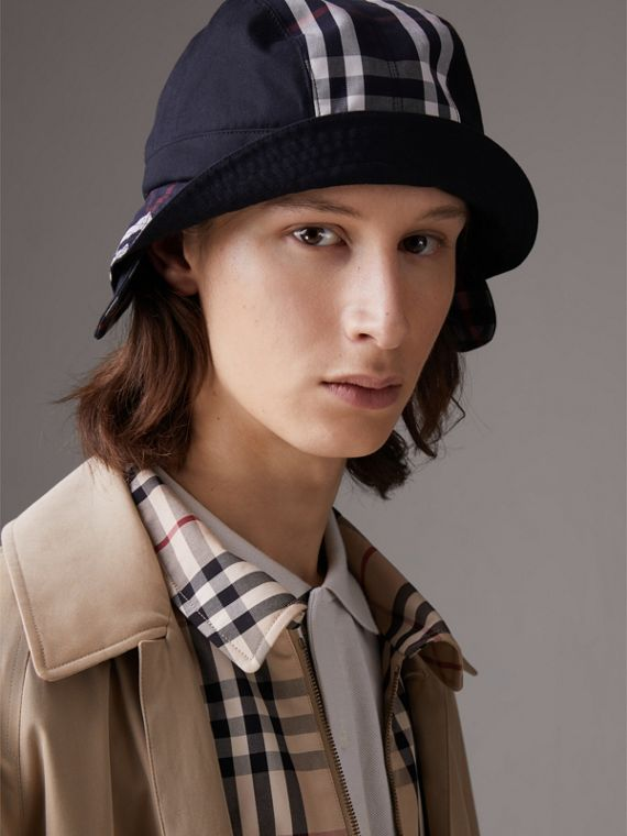 Gosha x Burberry Bucket Hat in Navy