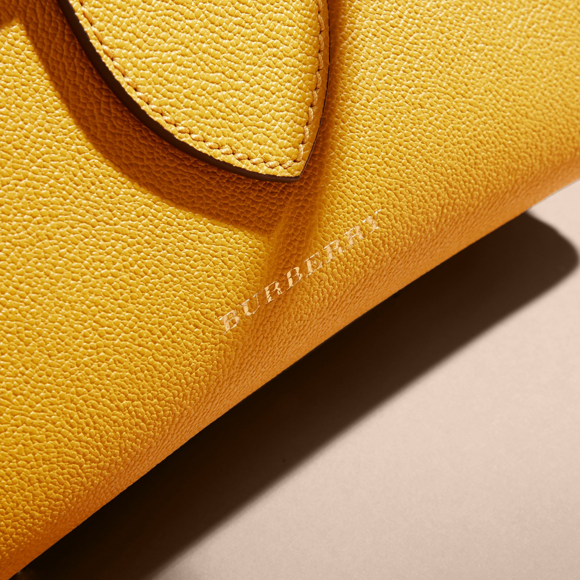 The Small Buckle Tote in Grainy Leather in Bright Straw - Women | Burberry Singapore - gallery image 2