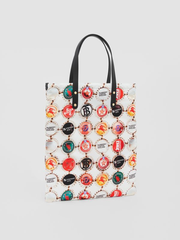 Bottle Cap Print Nylon Tote Bag in Black | Burberry Canada - cell image 3
