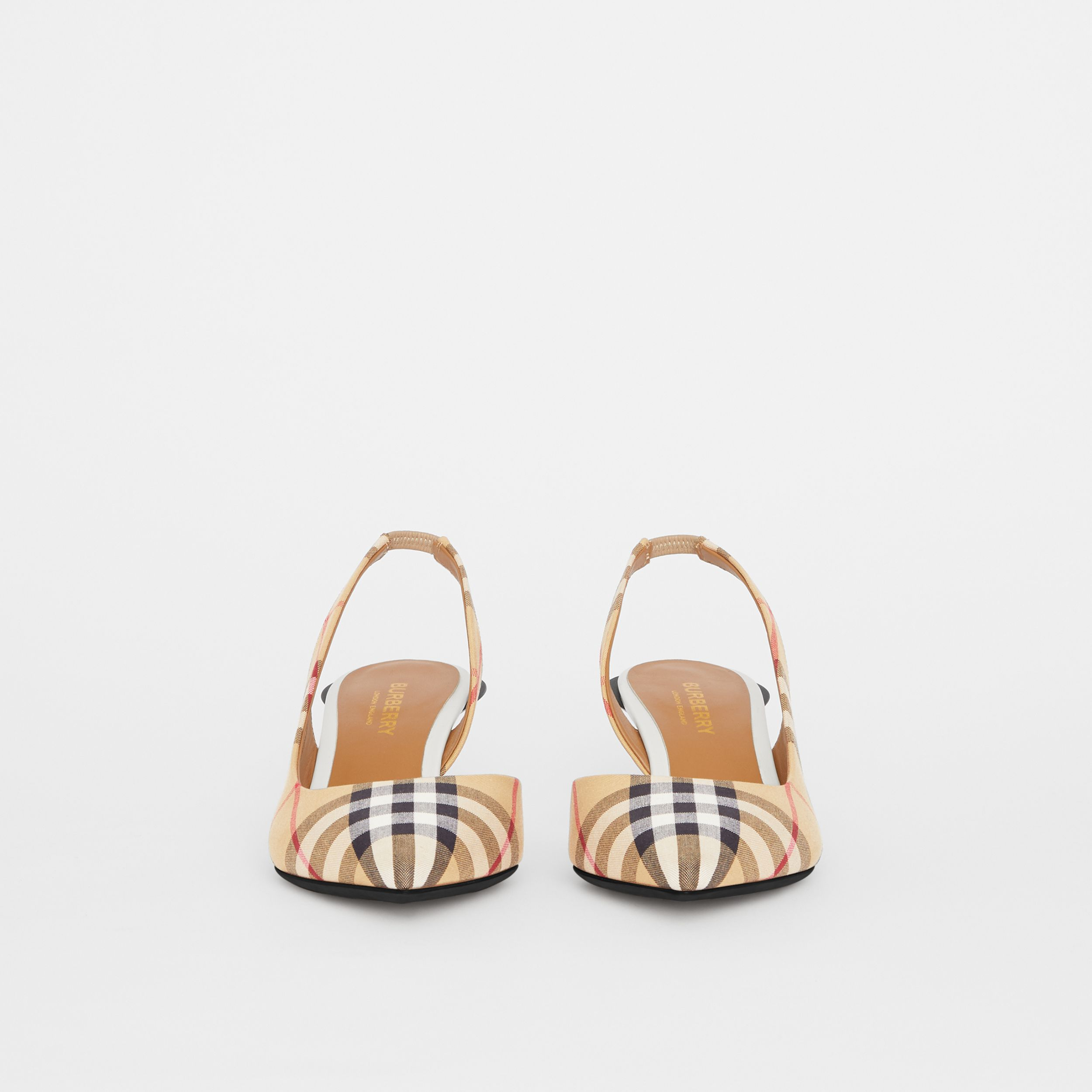 Vintage Check Slingback Pumps in Archive Beige - Women | Burberry - 4