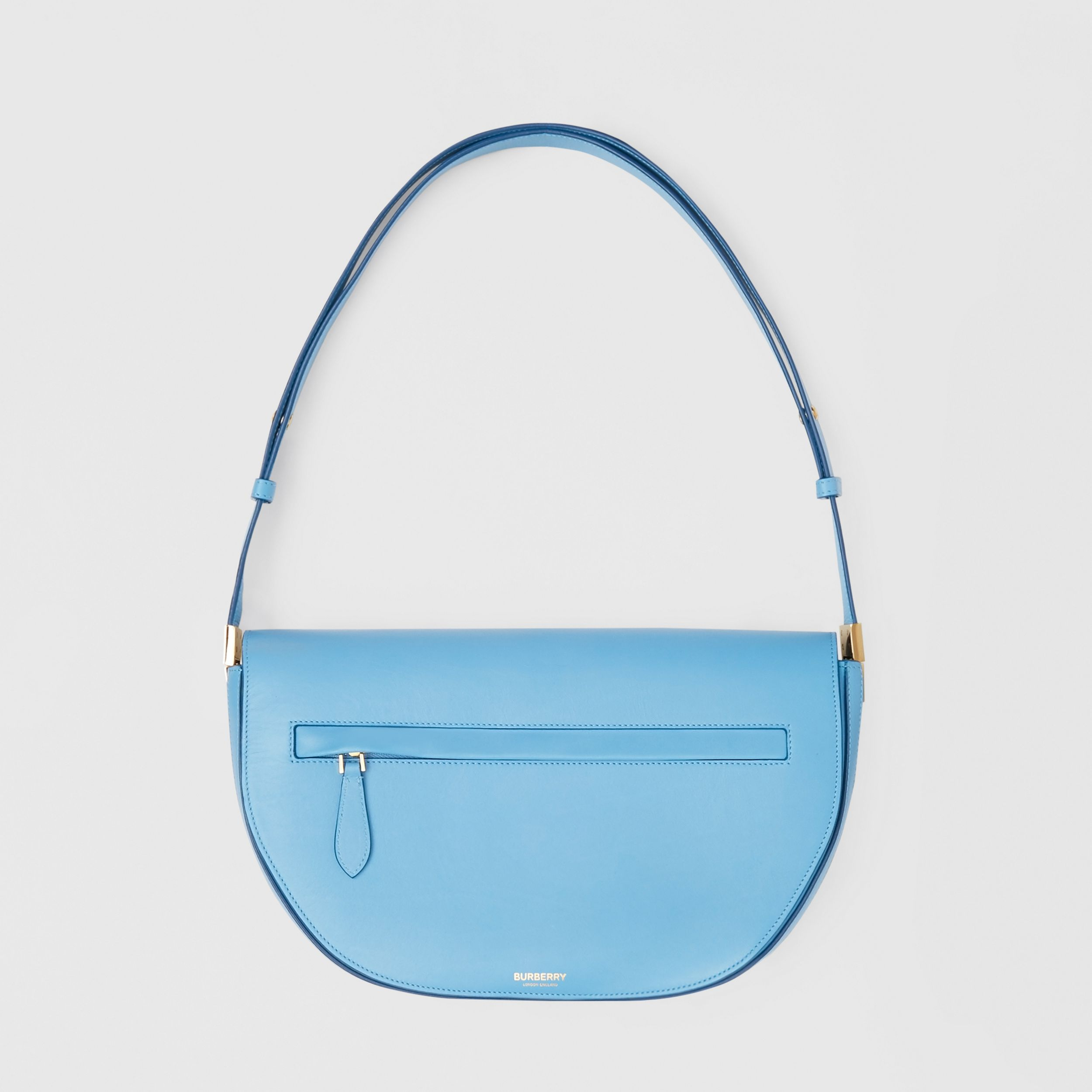 Medium Leather Olympia Bag in Blue Topaz | Burberry - 1