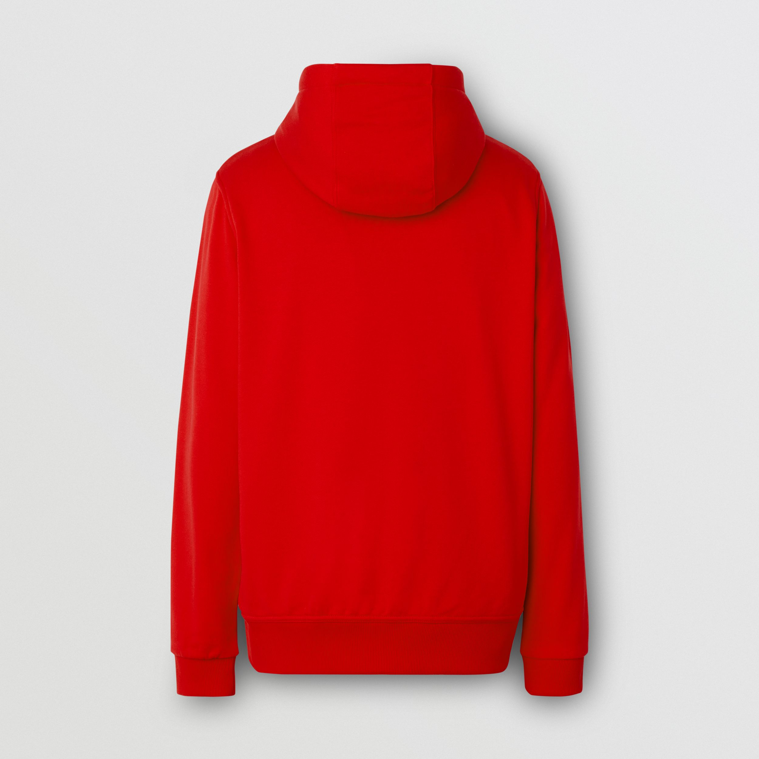 Logo Appliqué Cotton Hooded Top in Bright Red - Men | Burberry - 2
