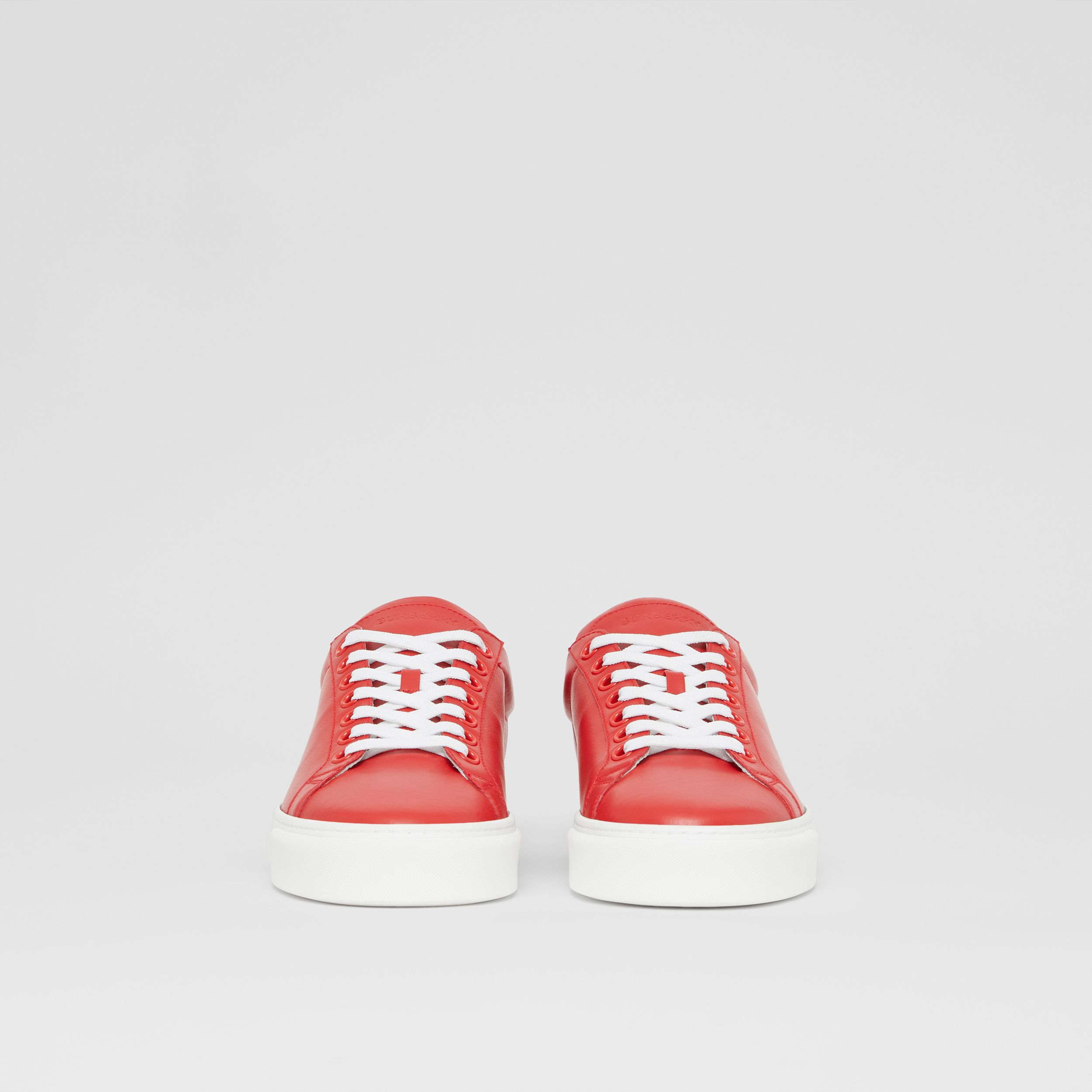 Bio-based Sole Leather Sneakers in Bright Red - Men | Burberry United States - 4