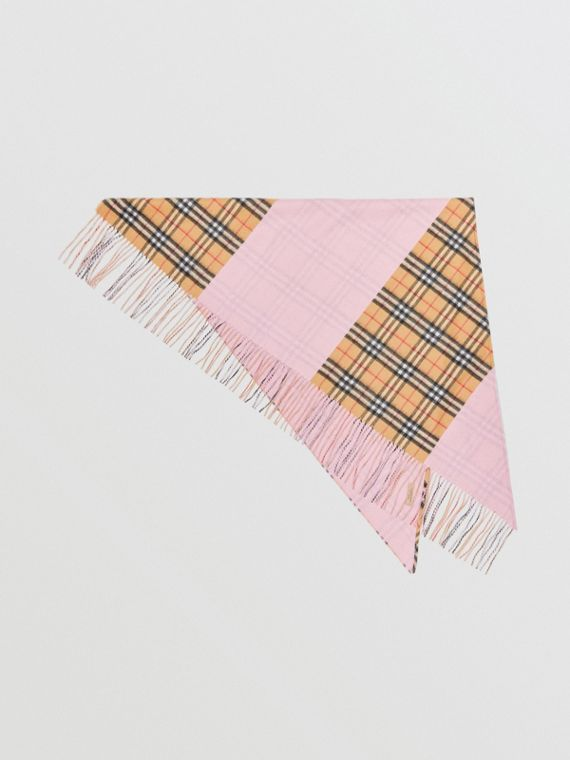 The Burberry Bandana in Vintage Check Cashmere in Pale Rose