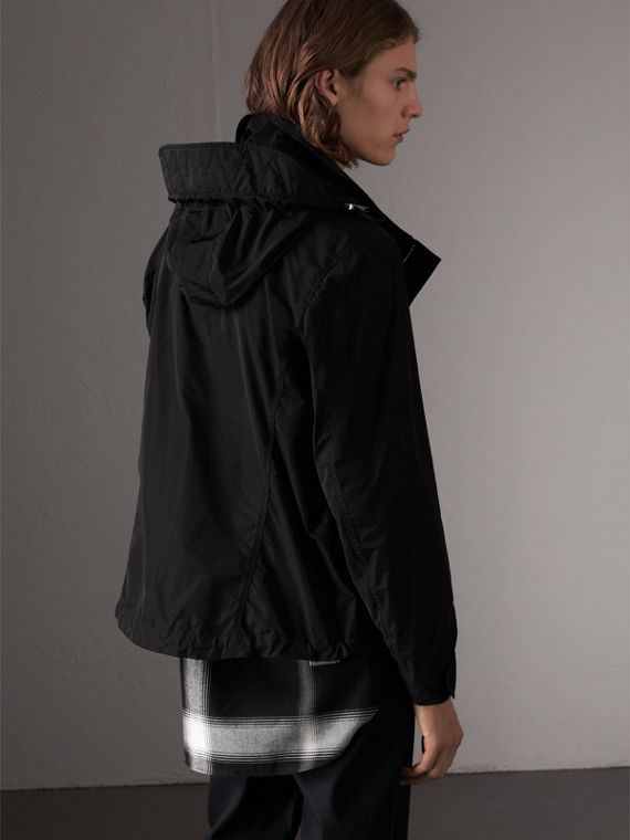 Packaway Hood Showerproof Jacket in Black - Men | Burberry United Kingdom - cell image 2