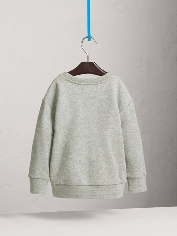 Best in Show Print Cotton Jersey Sweatshirt in Grey Melange - Boy | Burberry Australia - cell image 3