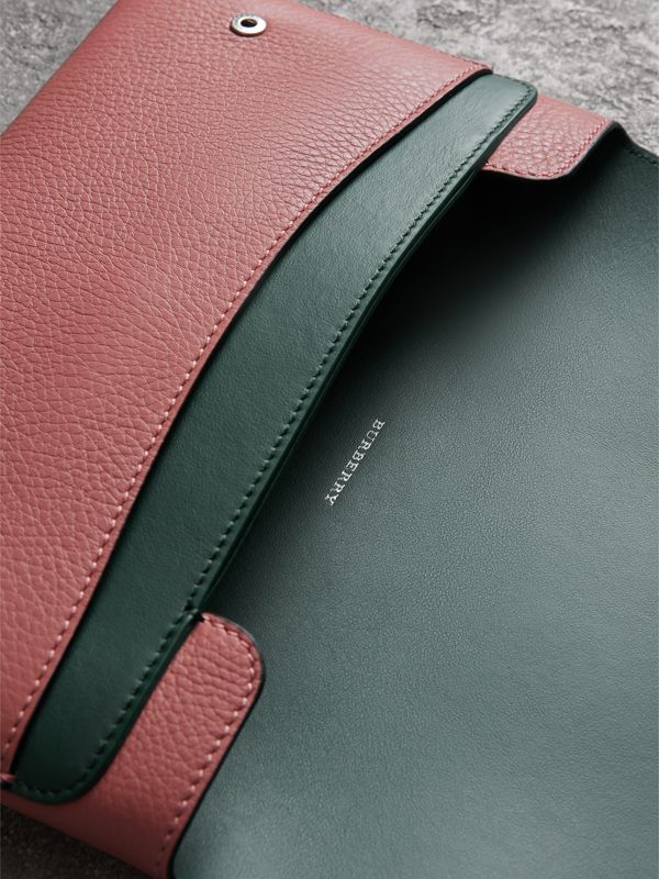 Two-tone Leather Wristlet Clutch in Dusty Rose - Women | Burberry Singapore - cell image 3