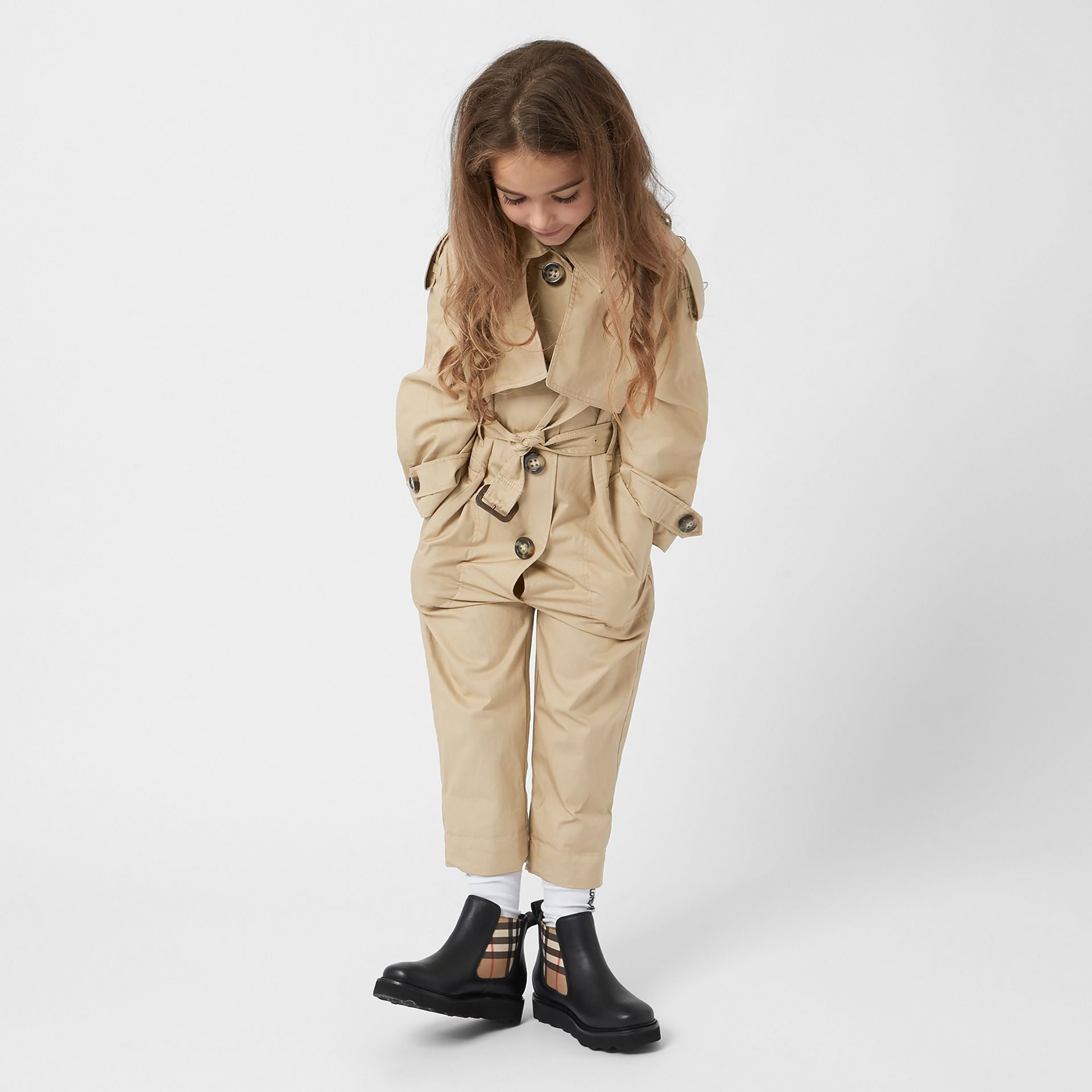 Cotton Trench Jumpsuit in Honey | Burberry United States - gallery image 2