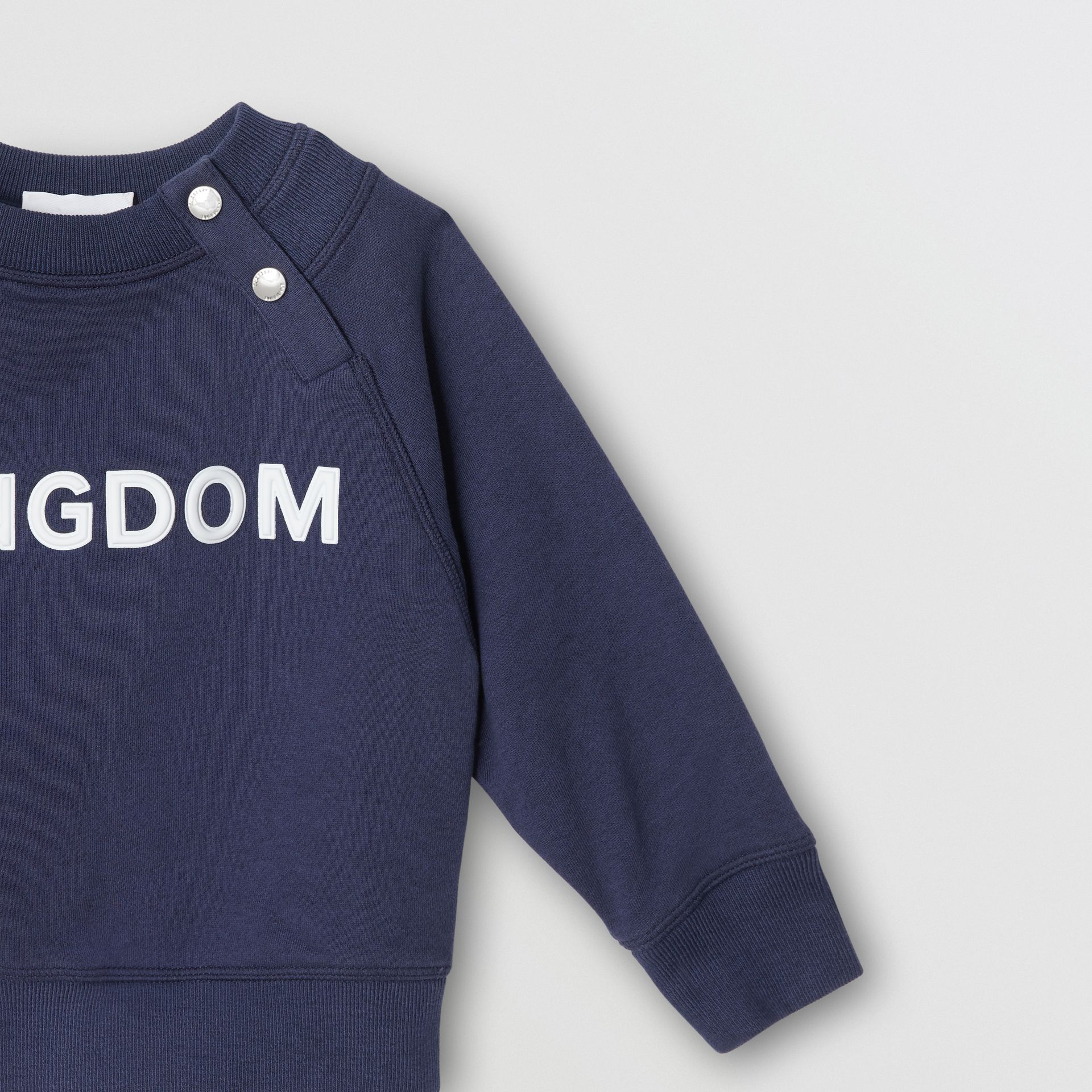 Sweat-shirt en coton Kingdom (Camaïeu De Bleus Ardoise) - Enfant | Burberry - photo de la galerie 4