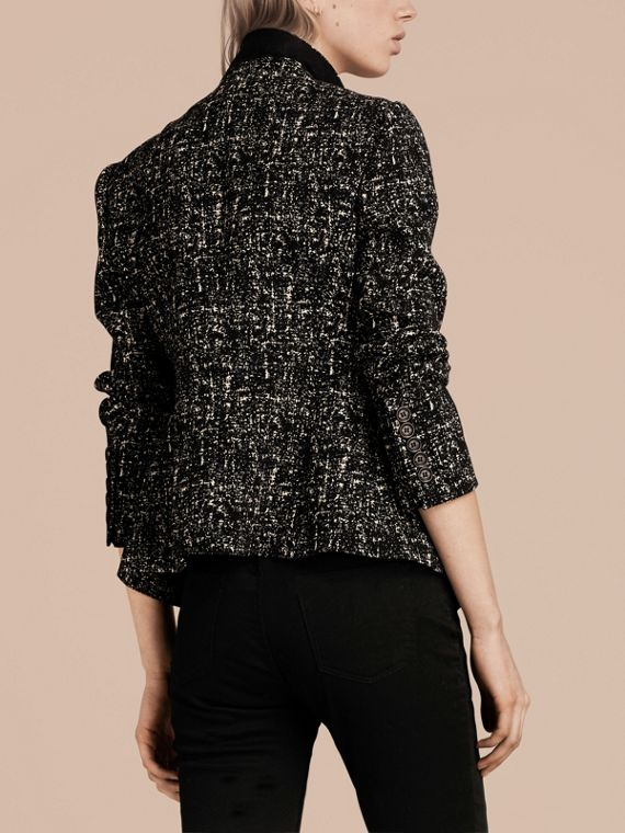 Black/white Tailored Wool Blend Tweed Jacket - cell image 2