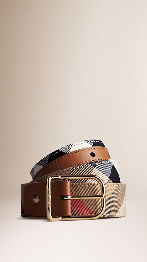 Tan House Check Belt - Image 1
