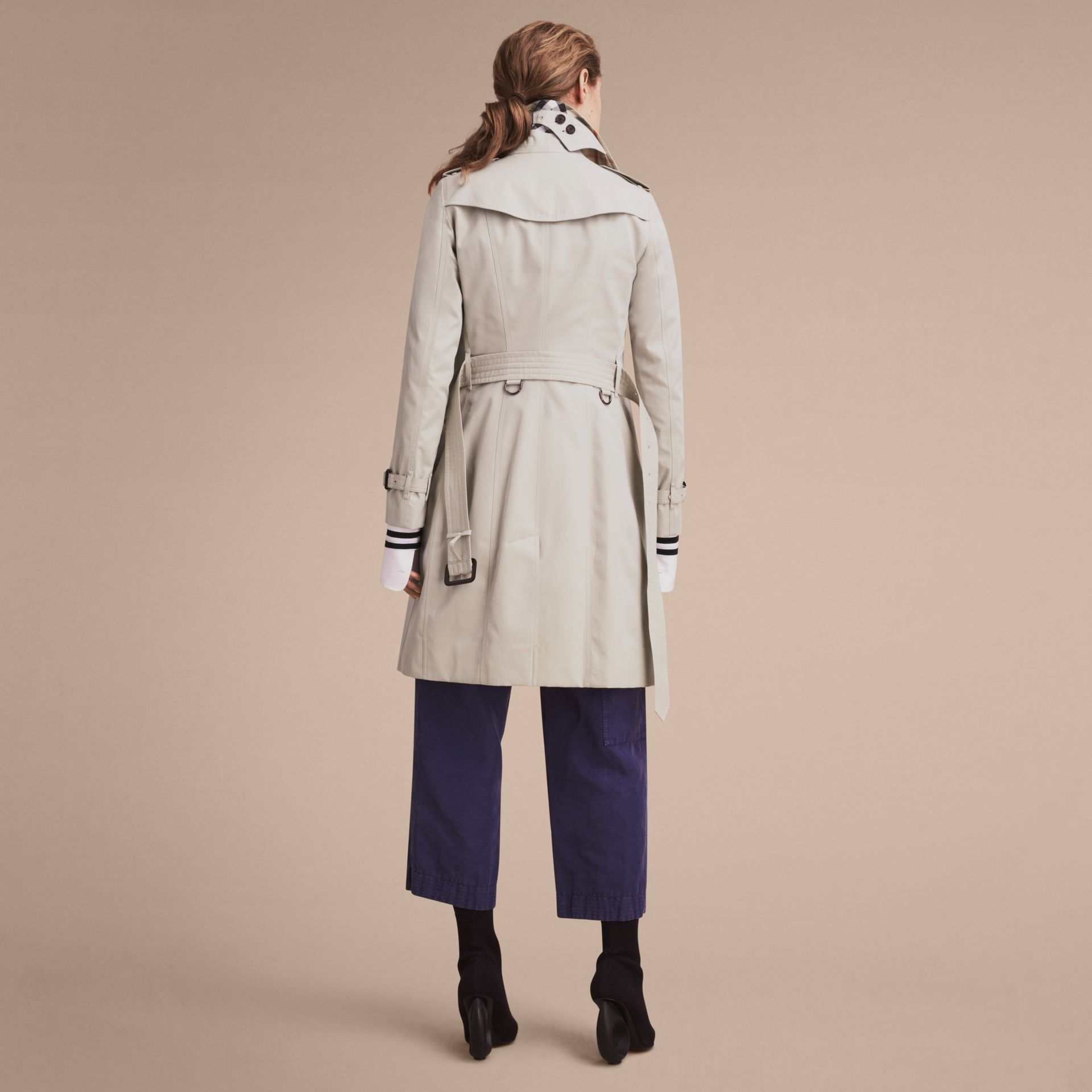 Stone The Sandringham – Long Heritage Trench Coat Stone - gallery image 3