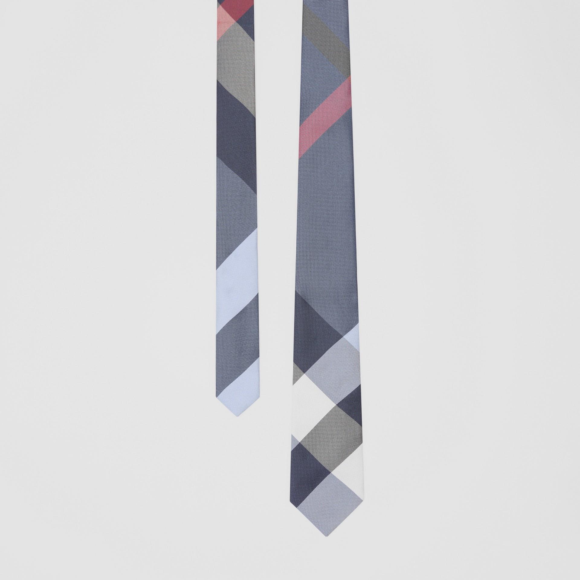 Classic Cut Check Silk Jacquard Tie in Porcelain Blue - Men | Burberry Australia - gallery image 0