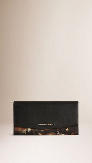 Horseferry Check and Camouflage Continental Wallet