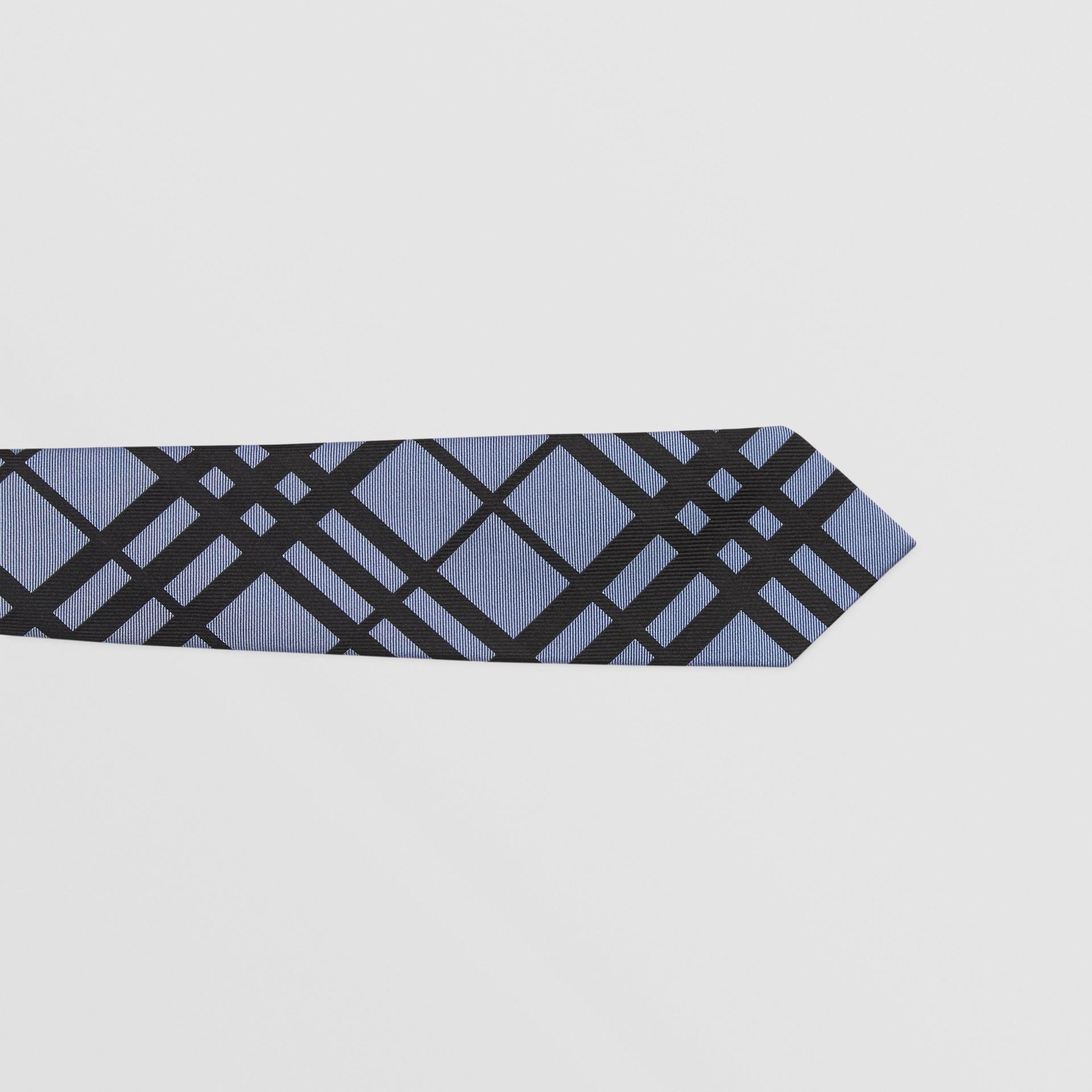 Classic Cut Check Silk Jacquard Tie in Chalk Blue - Men   Burberry - gallery image 1