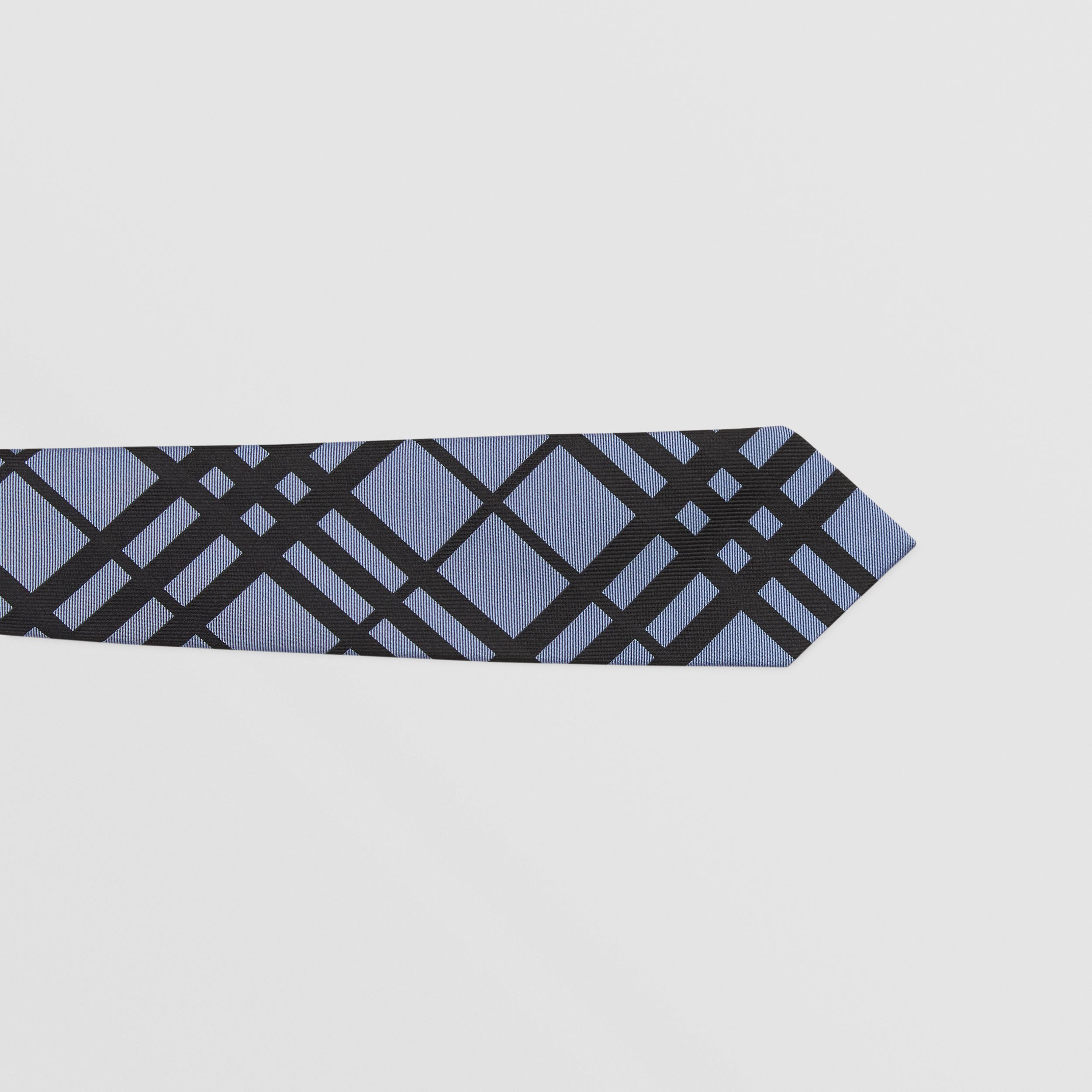 Classic Cut Check Silk Jacquard Tie in Chalk Blue - Men | Burberry - 2